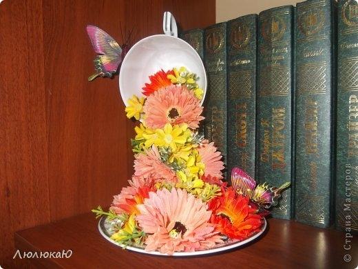 Мастер класс летящая чашка с цветами своими руками