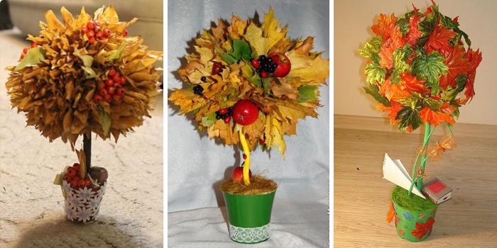 Поделки для садика на тему осень дерево своими руками фото 21